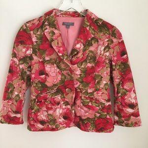 Ann Taylor Floral Silk Blazer